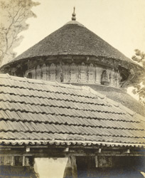 Inner view of the main shrine, Bhagavati Temple, Elatur, Calicut taluk, Malabar district
